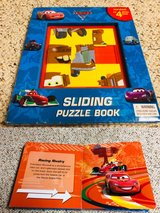 Cars sliding puzzle story book with 4 puzzles in Naperville, Illinois