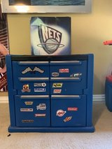 Big toy box, Nike 6y sneakers, shirts sz Med in Houston, Texas