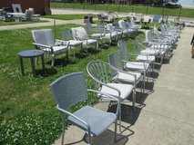 It's a Sea of Silver Outdoor Chairs in Westmont, Illinois