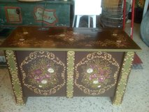 Beautiful Vintage wooden hand painted Trunk in Ramstein, Germany