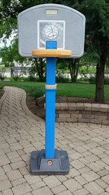 Basketball hoop, adjustable in Bartlett, Illinois
