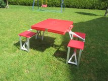 folding picnic table in Ramstein, Germany