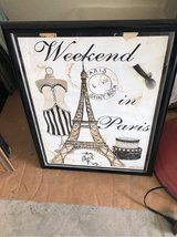 framed Paris print in Conroe, Texas