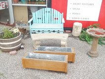 Two Seat Wooden Bench in Fort Riley, Kansas