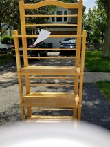 Butcher Block Shelving. Scratches and paint on it but in good stable condition in Glendale Heights, Illinois