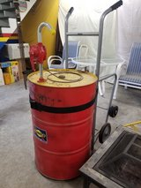 55 gallon drum with hand pump and dollie in Houston, Texas