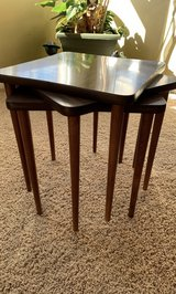 VINTAGE STACKING TABLES. SET OF 3. Circa 1960's. (Back in the days of TV Dinners) VERY VERSATILE... in Oswego, Illinois