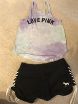 PINK tank and shorts Small in Plainfield, Illinois