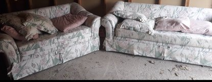 Gently used, animal/smoke free, love seat and couch in Westmont, Illinois