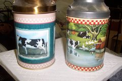 2 small milk tins in Conroe, Texas