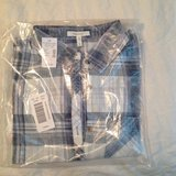 Maurices sz S blue plaid top, NIP in Fort Campbell, Kentucky