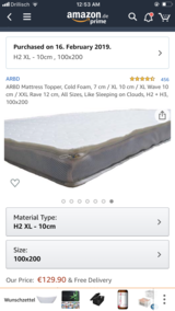 Mattresses topper in Ramstein, Germany