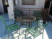 Decorative Metal Chairs and Table in Okinawa, Japan