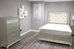 Tufted w/Diamonds Bedroom Set in Houston, Texas