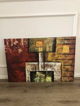 REDUCED--Large Oil textured canvas painting modern-signed original in Kingwood, Texas