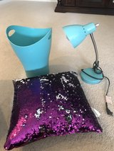 Girls lamp, pillow and waste basket in Plainfield, Illinois