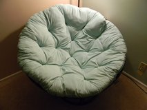 Papasan Chair Frame and Cushion in Naperville, Illinois
