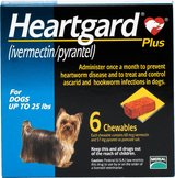 Heartgard Plus 6 month supply for dogs up to 25 lbs in Quantico, Virginia