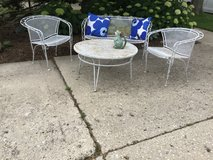 Vintage Wrought Iron Patio Set- in St. Charles, Illinois