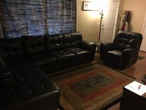 Ashley Leather Sectional and Lazyboy Chair in Fort Knox, Kentucky