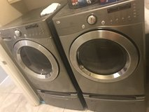 LG Stainless Steel washer & dryer in Conroe, Texas