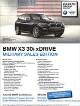BMW EULER Special Promotion in Ramstein, Germany