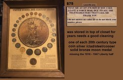 20th century coins in frame 24 coins $75 or best offer in Leesville, Louisiana