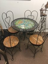 Vintage Wrought iron table & chairs patio set in Beaufort, South Carolina