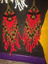 HAND BEADED NATIVE DANGLE EARRINGS in Byron, Georgia