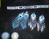 HAND BEADED NATIVE EARRINGS AND BRACELET SET in Byron, Georgia