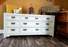 Refinished 9 drawer dresser in New Lenox, Illinois