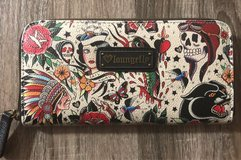 BRAND NEW Loungefly Wallet Classic Tattoo Printed Pebble Zip Around in Nellis AFB, Nevada