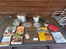 Pressure Cookers Mirro 4 and 8 Quart Plus Accessories and Cookbooks in Joliet, Illinois