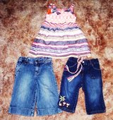 2T Girls 2 little Pairs of Jeans & 1 Dress in Alamogordo, New Mexico