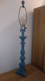 Ceramic teal lamp in The Woodlands, Texas