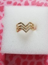 Pave Chevron Ring 2 in Camp Lejeune, North Carolina
