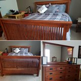 Queen Bed & Combo Dresser with Mirror in Travis AFB, California