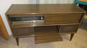 220 Volt Vintage Radio and Record Player Cabinet in Ramstein, Germany