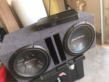 12 inch speakers and JL audio amp 5 ch in El Paso, Texas