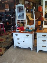 1880's chalk painted dresser with mirror in Cherry Point, North Carolina