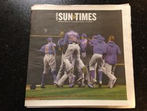 Chicago Cubs World Series Champions Chicago Sun Times 11/2 full newspaper in Glendale Heights, Illinois