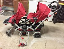Kolcraft Contours Double Tandem Stroller - Red in St. Charles, Illinois