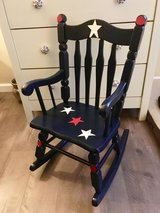 Child's rocking chair: hand painted in Morris, Illinois