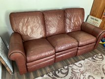 leather reclining sofa couch in Baytown, Texas