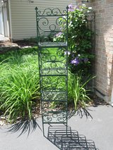 Scrolly Wrought Iron Plant Stand/Shelving in Joliet, Illinois