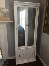2 WHITE tall BOOKCASES with MIRRORED doors in Joliet, Illinois