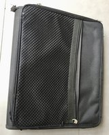 Black Portfolio w/3 ring binder & 2 zippered sections in Glendale Heights, Illinois