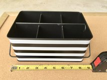 Black & White Office Supply Organizer Tin for Pens, Pencils, Scissors in St. Charles, Illinois