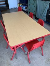 Sturdy craft table/6 chairs in Joliet, Illinois