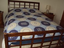 King size duvet cover with matching pillow cases. As new condition. in Lakenheath, UK
